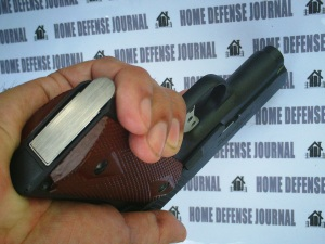 Fast reloads: The Titan's magazine well is flared to aid in quick reloads. (Photo by IGG)