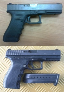 Things in Common: The Glock 17 (top) and the Tara TM-9 (above) may not be twins but they are clearly alike in many respects. Their similarities are more than superficial. (Photos by IGG)