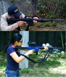 Intimidation value: Armscor's classic M-1600 (top) and its latest Mig-22 (above) can both serve in the home defense role. (Photos by IGG)