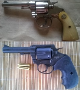 Inspiration: Colt's classic double-action revolvers like this nickel-plated, pearl-handled Colt Police Positive (top), seems to have been the basis for the M202 (above) and two generations of Armscor revolvers.