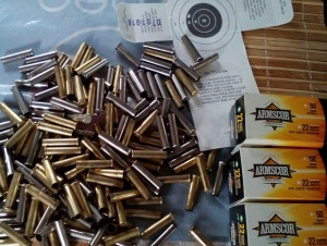 Armscor .22 Mag empty shells